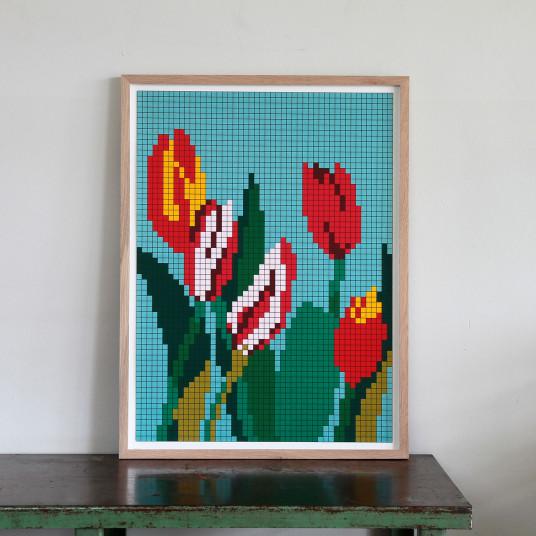 Fünf Tulpen