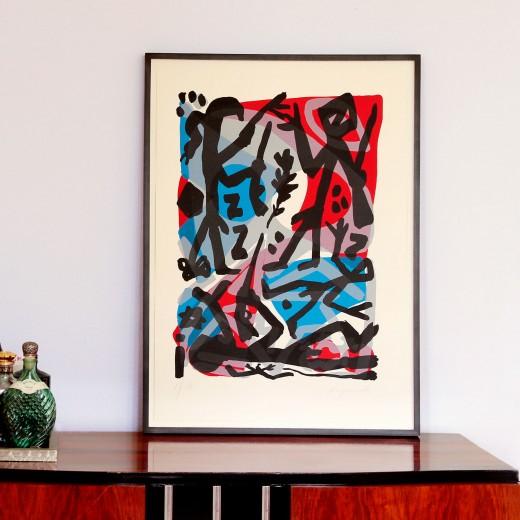A.R. Penck, Begegnung an der Elbe